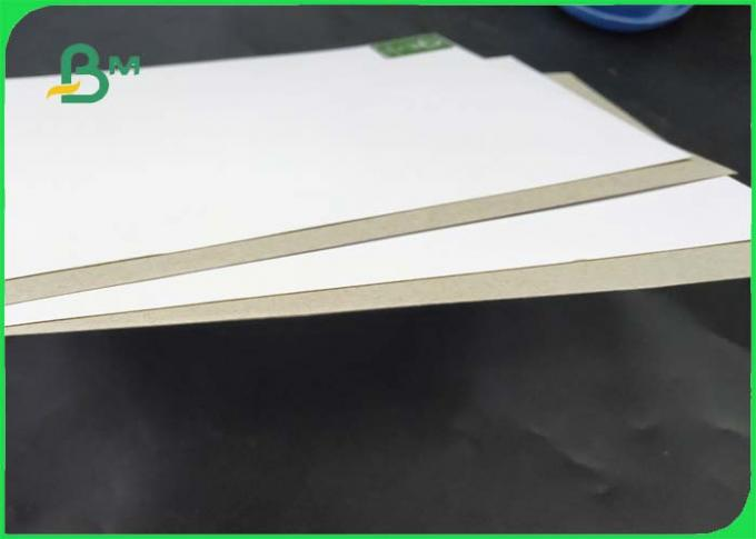 Smoothness And Soft Coated White Board With Grey Back FSC Approved Different Thickness