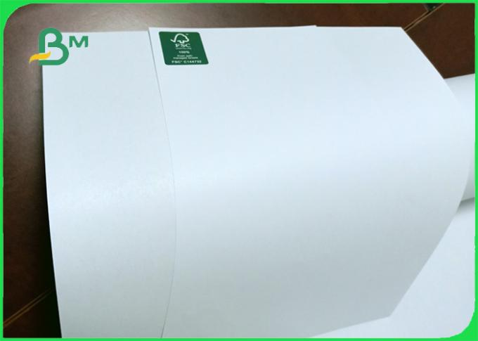 Width 24 / 36 inch wood pulp smooth inkjet plotter paper for garments industry