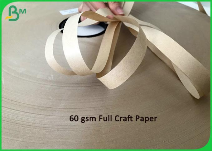 Straw Base Food Grade Red Stripped Color 60g Paper Roll 15MM 27MM Width